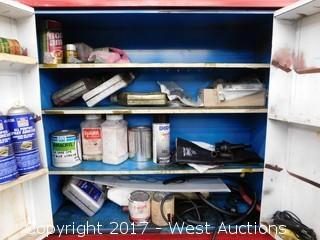 Work Cabinet with Contents