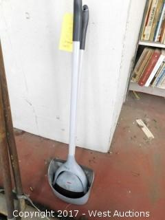 Push Broom and Floor Squeegee
