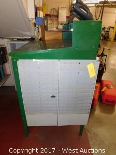 Metal Shop Service Desk with Folder Pockets on Side