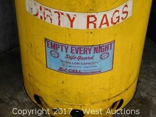 Dirty Rags Waste Can