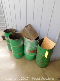 (4) Metal Waste Bins