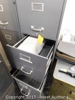 (2) 4 Drawer Metal File Cabinets