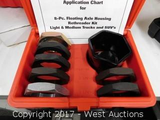 Kaster Hand Tools 8-PC Floating Axle Housing Rethreader KitLight and Medium Trucks and SUV's