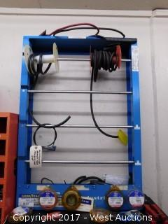 Metal Rack with Vacuum Tubing