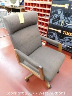 Grey Rolling Chair