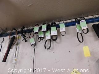 Assorted Automotive Parts Hanging on Wall