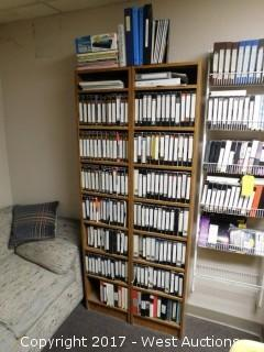 Shelves with Instructonal automotive VHS's