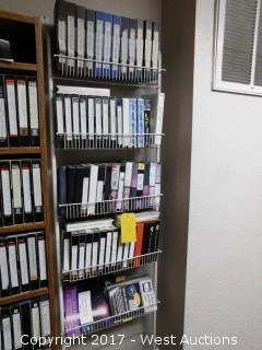 Metal Shelving with Instructional automotive VHS's