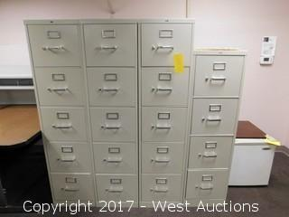 (4) Metal File Cabinets