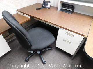 Desk with Shelf & Office Chair