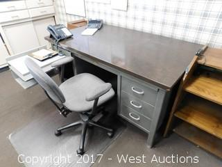 Bulk Lot of Office Desks/ Supplies