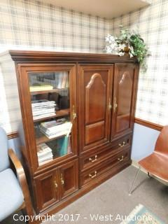Wood & Glass Entertainment Armoire