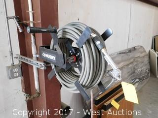 Husky Compressed Air Hose Reel with Spray Fitting