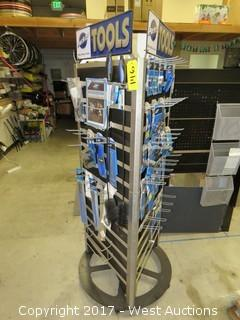 ParkTool USA Rotating Display with Bicycle Repair Tools