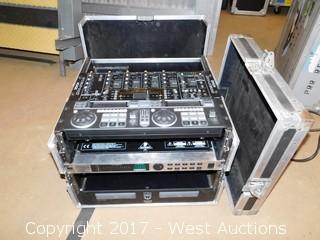 Numark CON-90 / Denon X-800 Mixer in Road Case