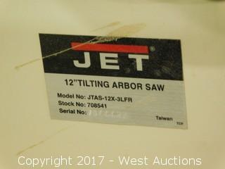 "JET 12"" Tilting Arbor Saw with Xacta Fence"