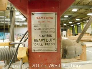 Daytona 5-Speed Heavy Duty Drill Press with Roller Table