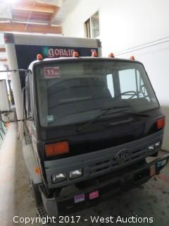 1993 UD 3300 Box Truck with Liftgate and Shelving