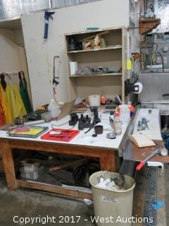 Work Bench with Tools
