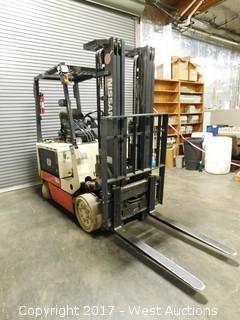 Nissan Dual Mast 5,000 lb. Capacity Electric Forklift