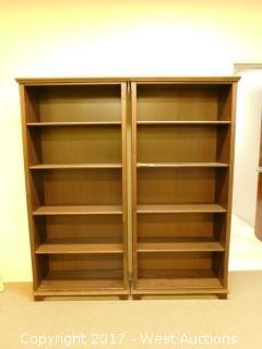(2) Wood Bookcases 6'