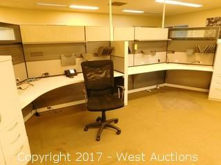 (5) Office Cubicles with Desk and Storage