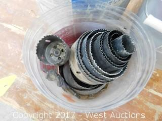 (3) Buckets of Drill Bits