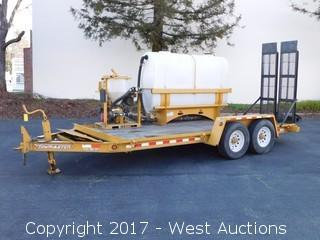 2010 Towmaster Flatbed Trailer with Mounted Vermeer MX125 Mix System