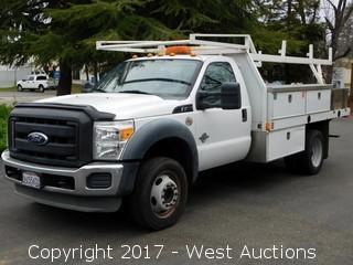2011 Ford F-450 6.7 Litre Powerstroke Diesel Utility Truck
