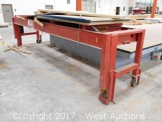 17'x3-1/4' Rail Mounted Steel Frame Bench