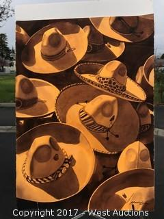 """Sombreros"" Original Watercolor by Rubén Reséndiz"