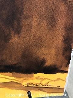 """Viejita"" Original Watercolor by Ruben Resendiz"