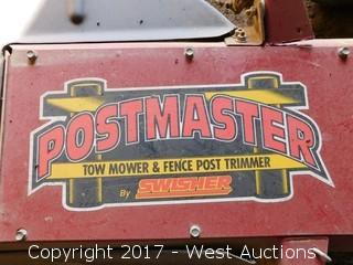 Swisher Postmaster Tow Behind Mower and Fence Post Trimmer
