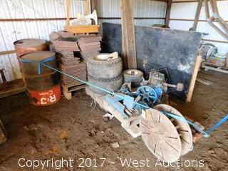Bulk Lot; Engines, Roof Tiles, Tanks, Hose, Tires