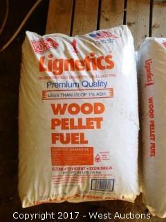 (6) Bags of Lignetics Wood Pellet Fuel