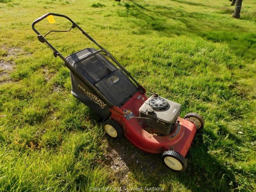 Murray 21 Lawn Mower : West auctions auction farm implements wood working and