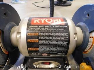 "Ryobi BGH6110 6"" Bench Grinder"
