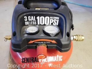 Central Pneumatic 95275 100 PSI Electric Air Compressor