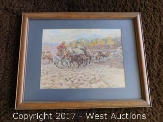 (6) Charles M Russel Framed Art