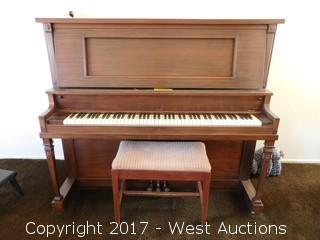 PS Wick Upright Piano and Stool