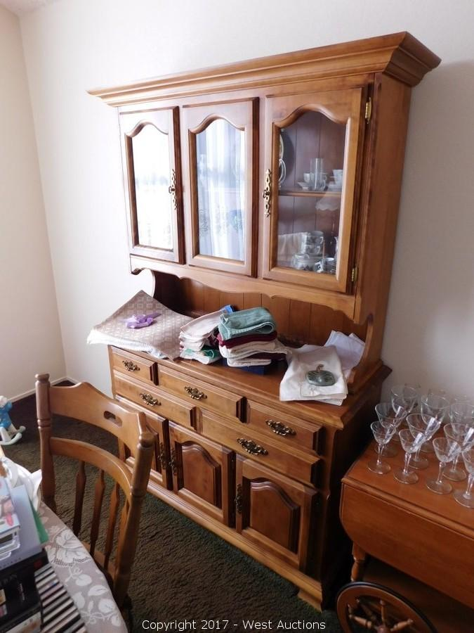 West auctions auction farm implements wood working and for Dining room furniture auctions