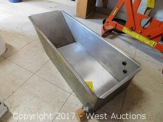 "36""x12"" Stainless Steel Trough"