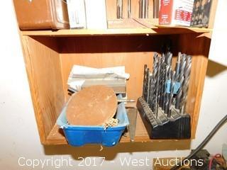 Drill Bits in Cabinet