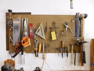 Pegboard with Hand Tools