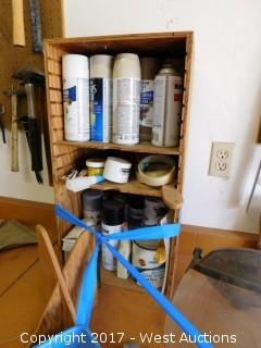 6.5' Work Table with Tools and Pegboard with Tools