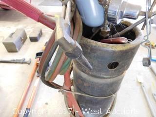 Acetylene Torch Cart Set