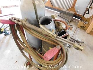 Acetylene Torch Cart Set
