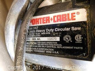 "Porter Cable 347 7-1/4"" HD Circular Saw"