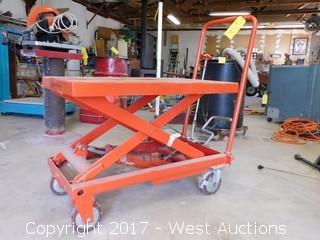 Hydraulic Lift Table Cart 660 Lbs