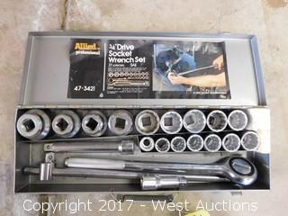 "Allied 3/4"" 21 Piece Drive Socket Wrench Set"